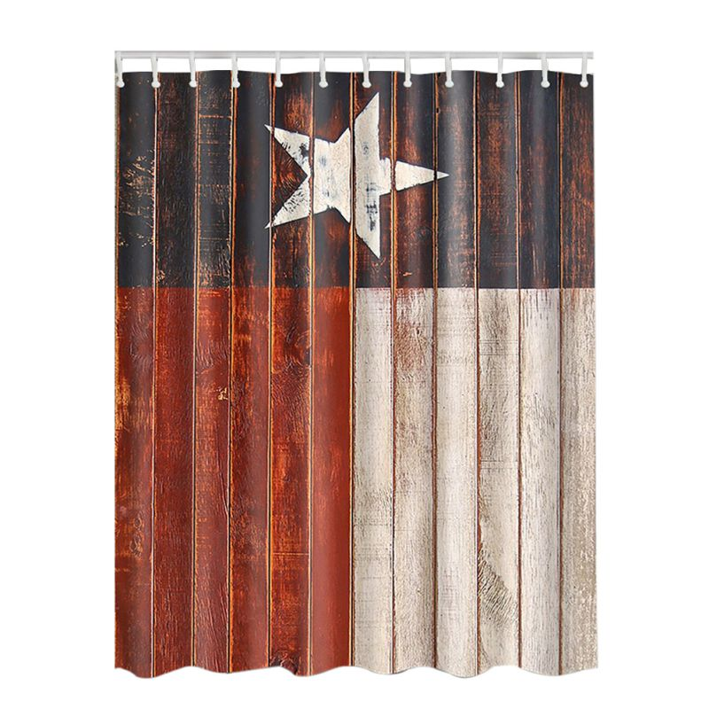 3D Fabric Shower Curtain With Hooks Decor Collection Nautical Anchor Rustic Wood Seascape Picture Print Bathroom Set In Curtains From Home Garden