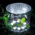 Original Solar Lanterna Inflável Dobrável Pendurado À Prova D' Água LEVOU Luz de Iluminação Ao Ar Livre Portátil Luz de acampamento Lanterna ABS