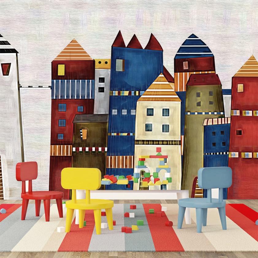 Kustom Mural Castle Gambar Bukan Tenunan Kelembaban Dekorasi Rumah Wallpaper R Anak Ruang