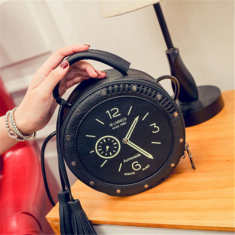 RanHuang Moda Mujer Borla Bolsos Reloj Diseñador Bolsos Pequeños de - Bolsos - foto 6