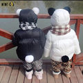 Fashion Character Baby Coats Thicken Winter Warm Baby Boys Girls Cotton Padded Jackets Cute Hooded Infant Outwear Kids Costumes