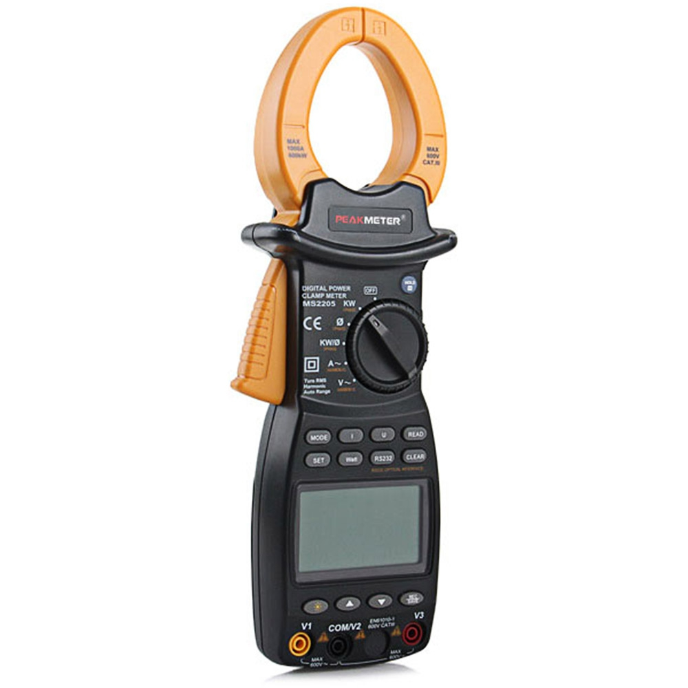 где купить MS2205 LCD Professional Multifunction 3 Phase Tester Clamp Meter Power Factor Correction TRMS 4 Wire Testing дешево