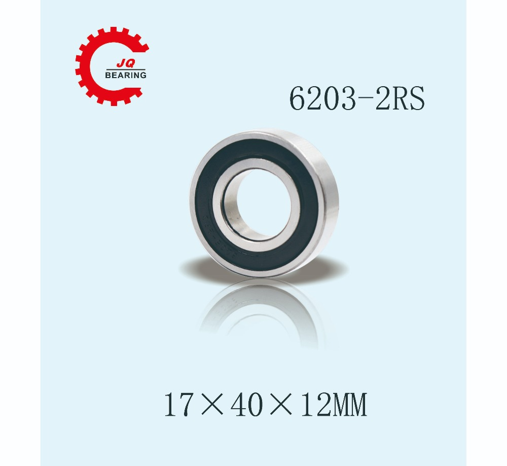 Rubber Double Sealed Radial Ball Bearing 50 pcs 17x 40x 12 mm 6203 2RS C3