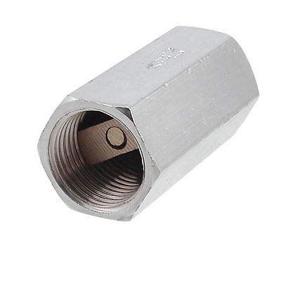 Silver Tone Solid Brass 1/2 PT Thread Pull Port One Way Check Valve vertical type 1 2 pt female threaded brass tone in line check valve