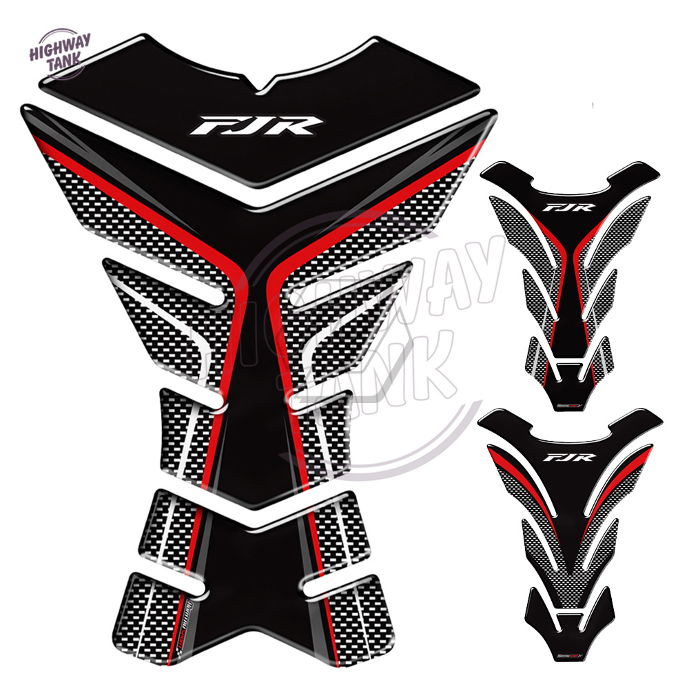 3D Carbon-look Motorcycle Tank Pad Protector Decal Stickers Case For Yamaha FJR 1300 FJR1300 A AS ABS