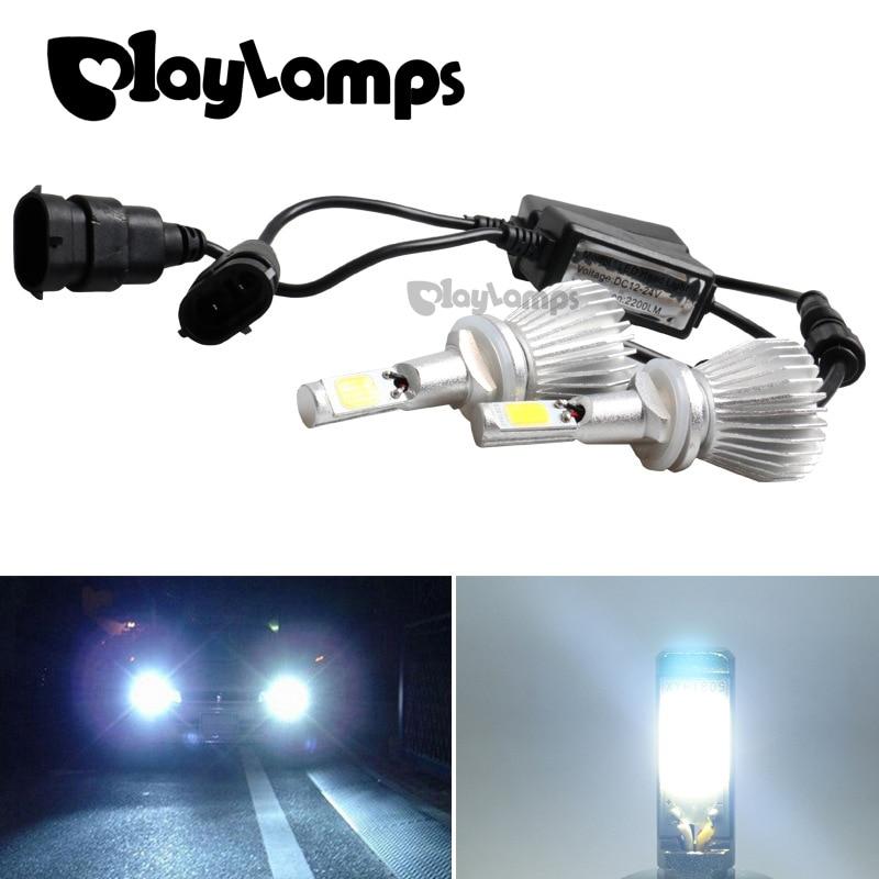 Auto Led 880/881 H27 Xenon White 30W 6000K Car LED Headlights Conversion Lamp Kit External Light Headlamp Universal Fit Car Led дефлектор auto h k gt 36964