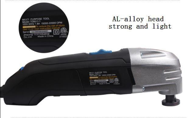 Купить 110 В мультимастерной инструменты, Деревообрабатывающий инструмент колеблющегося многофункциональный главная инструмент, Многоцелевые сша разъем с 37 шт. лезвие пилы дешево