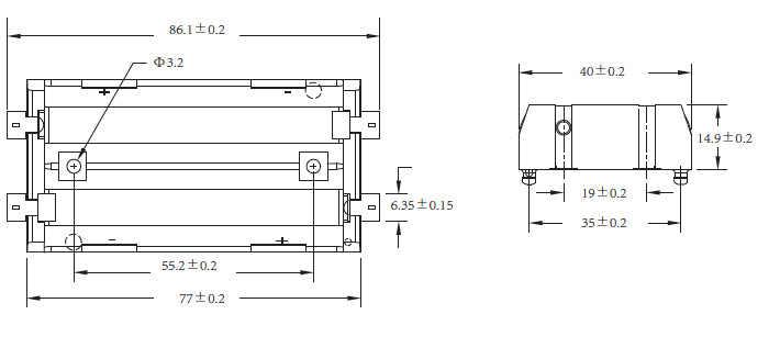 1 Pz/lotto di Alta Qualità 2X18650 Supporto Della Batteria SMD Con Bronzo Pins Battery Storage Box TBH-18650-2C-SMT