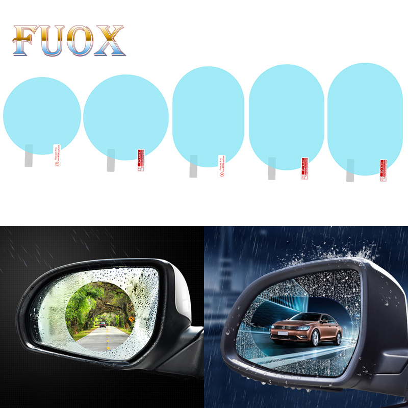 1pcs Anti Fog Car Mirror Window Clear Film Car Rearview Mirror Protective Film Waterproof Rainproof Car Sticker Accessories