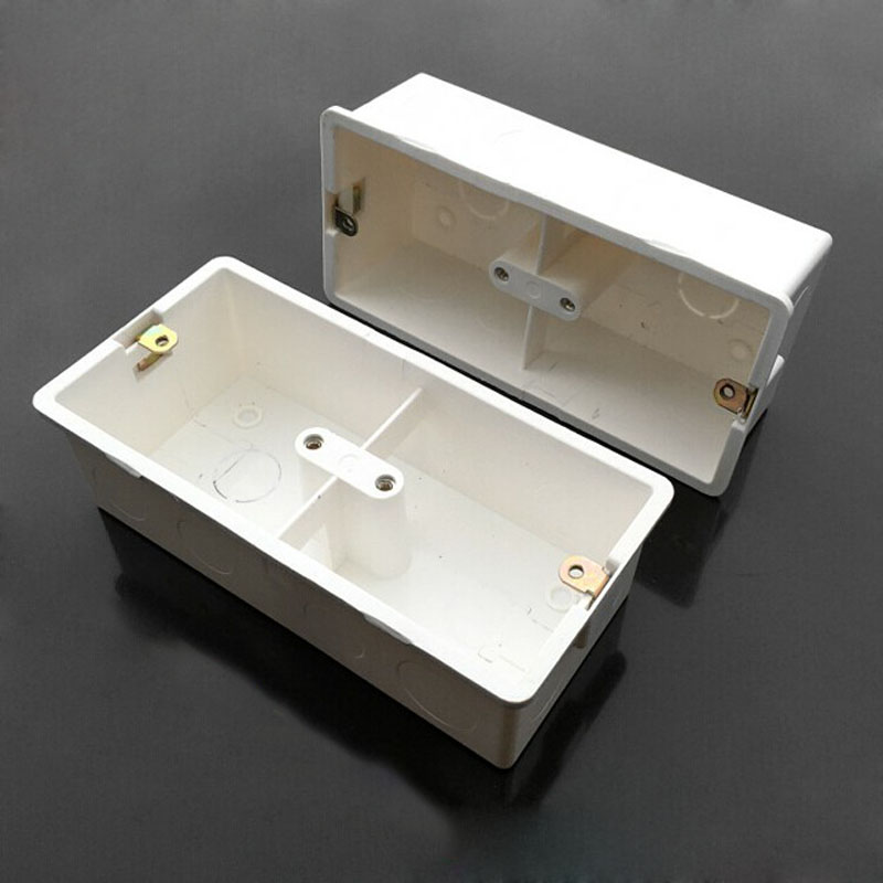 2pcs 86 Universal Junction Box Concealed Double Blocking Fuel Thickened Bottom Box For Push Button Switch Wall Socket 2pcs 86 Universal Junction Box Concealed Double Blocking Fuel Thickened Bottom Box For Push Button Switch Wall Socket