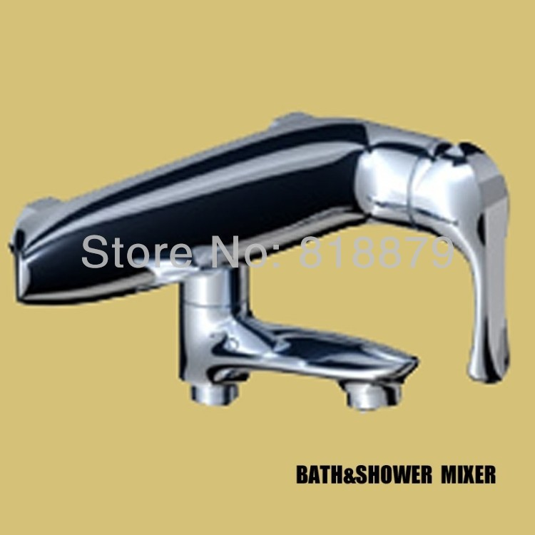 ∞Wall mounted shower faucet bathroom bath mixer bathtub faucets ...