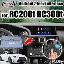 Android gps-навигатор для Lexus RC200t RC300h интерфейс с carplay, OEM ручка, сенсорная панель управления от Lsailt.