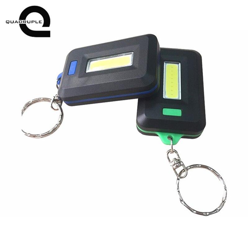 Quadruple Mini LED Flashlight Keychain Portable Keyring Light Torch Key Chain 45LM 3 Modes Emergency Camping Lamp backpack light