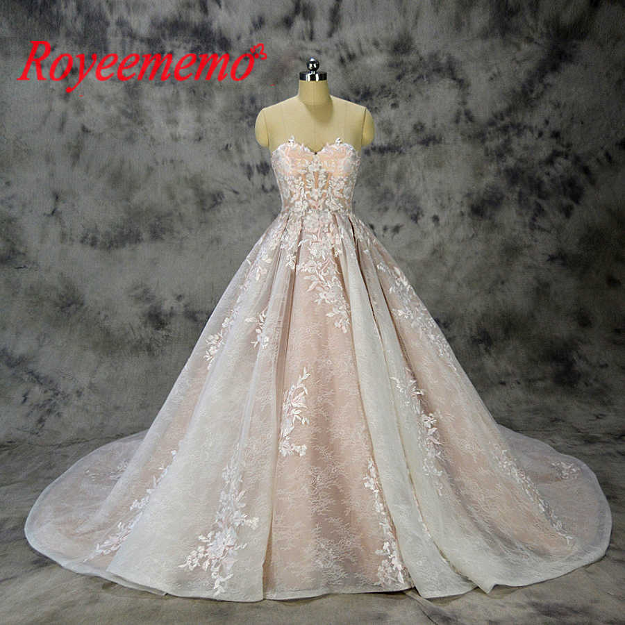 b9bf137f2bfe 2019 new design ball gown lace wedding dress sexy transparent top wedding  gown custom made factory