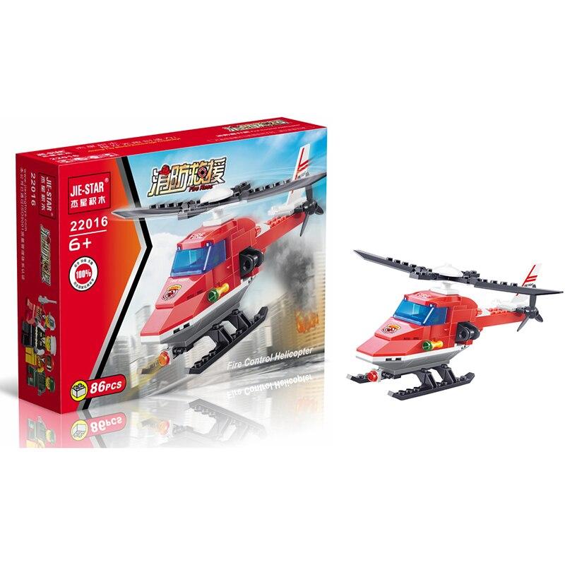 2017 City Fire Police Räddning Helikopterblock 86pcs Tegelstenar Byggnadsblock Satser Modellstenar Leksaker för barn