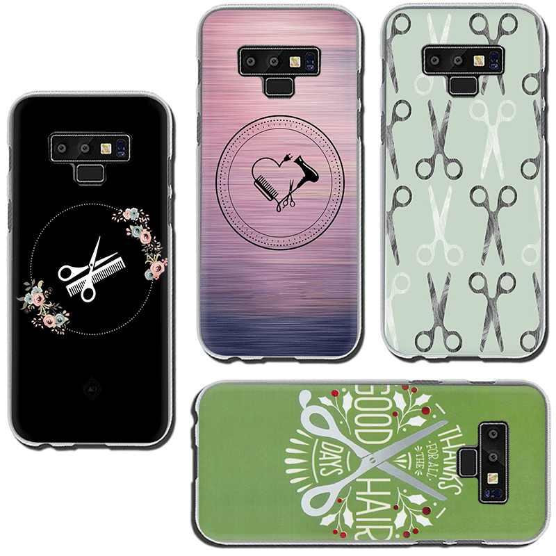 Hair Stylist Forbici Pennello Interruttore Dura della cassa del telefono per Samsung GaLaxy A3 A5 A7 A9 A6 A8 Più A10 A30 a40 A50 A70
