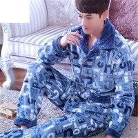 Winter Men S Pajamas Thickening Warm Flannel Mens Pyjama Sets Lounge Wear Comfortable Coral Fleece Male