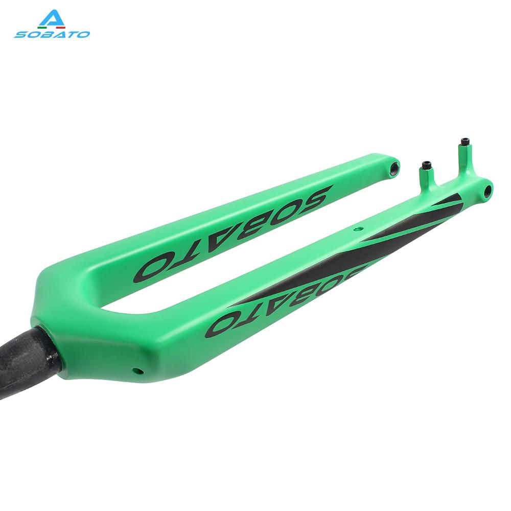 Sobato carbon bike fork 29 mtb front fork 29er disc brake fork carbon 29 inch bicycle thru axle 15mm