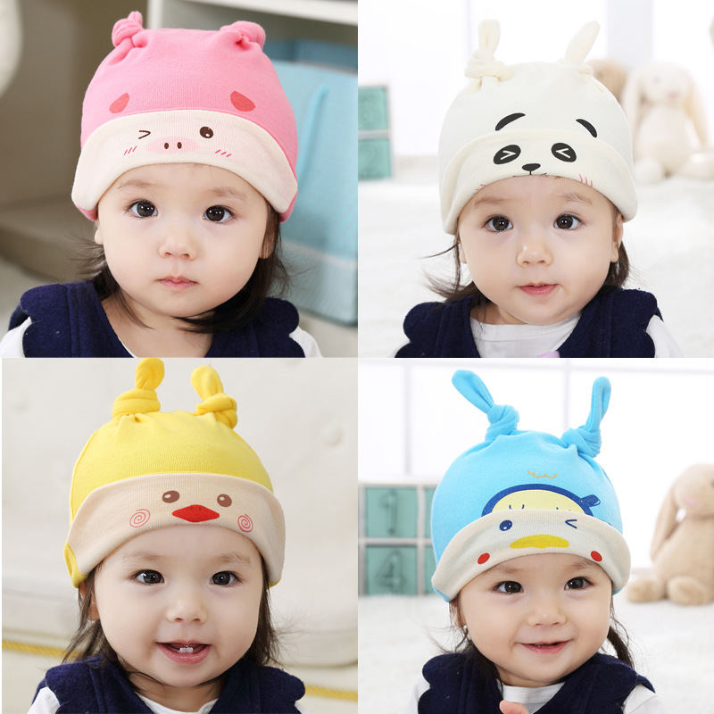 2018 New Spring Autumn Winter Brand Cotton newborn Baby Boy Girl Hats Toddler Infant Kids Caps Candy Color Lovely Baby Beanies