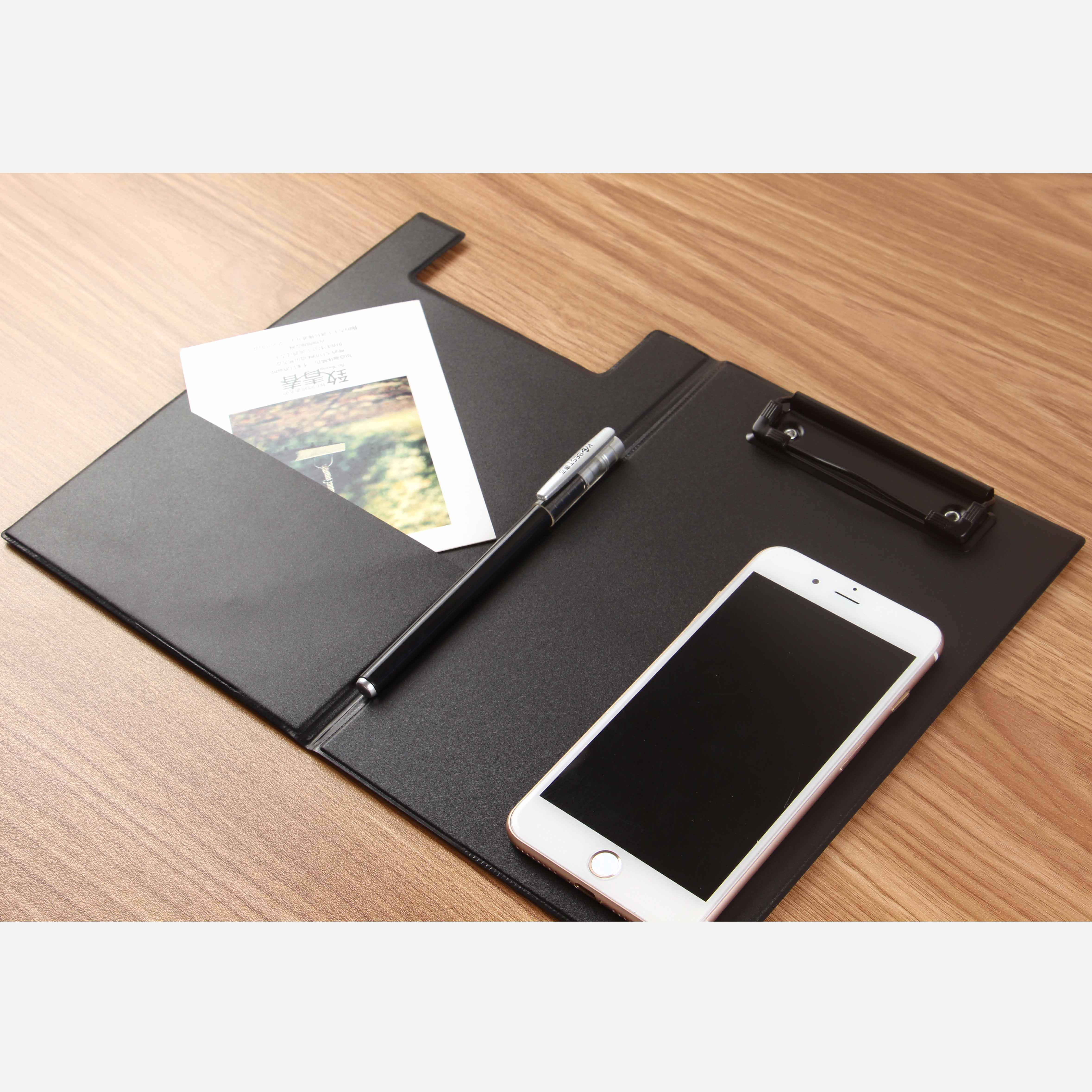 A4 Large Folder Manager Write Clip Board Meeting Business A5 Small Flip Folder Pu Padfolio
