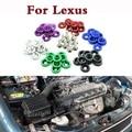 10pcs M6x20 Car Refit JDM Fender Washer Nuts Bolts Sticker For Lexus CT ES GS GS F GX HS IS IS F LFA LS LX NX RC RC F RX SC