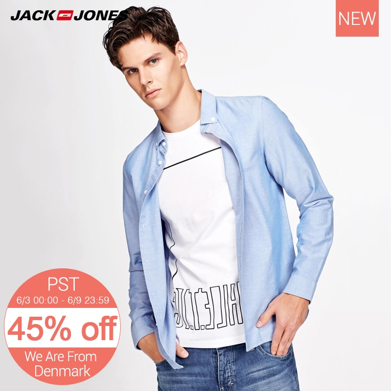 Jack Jones Men Cotton Long Sleeve Shirt M|217305518