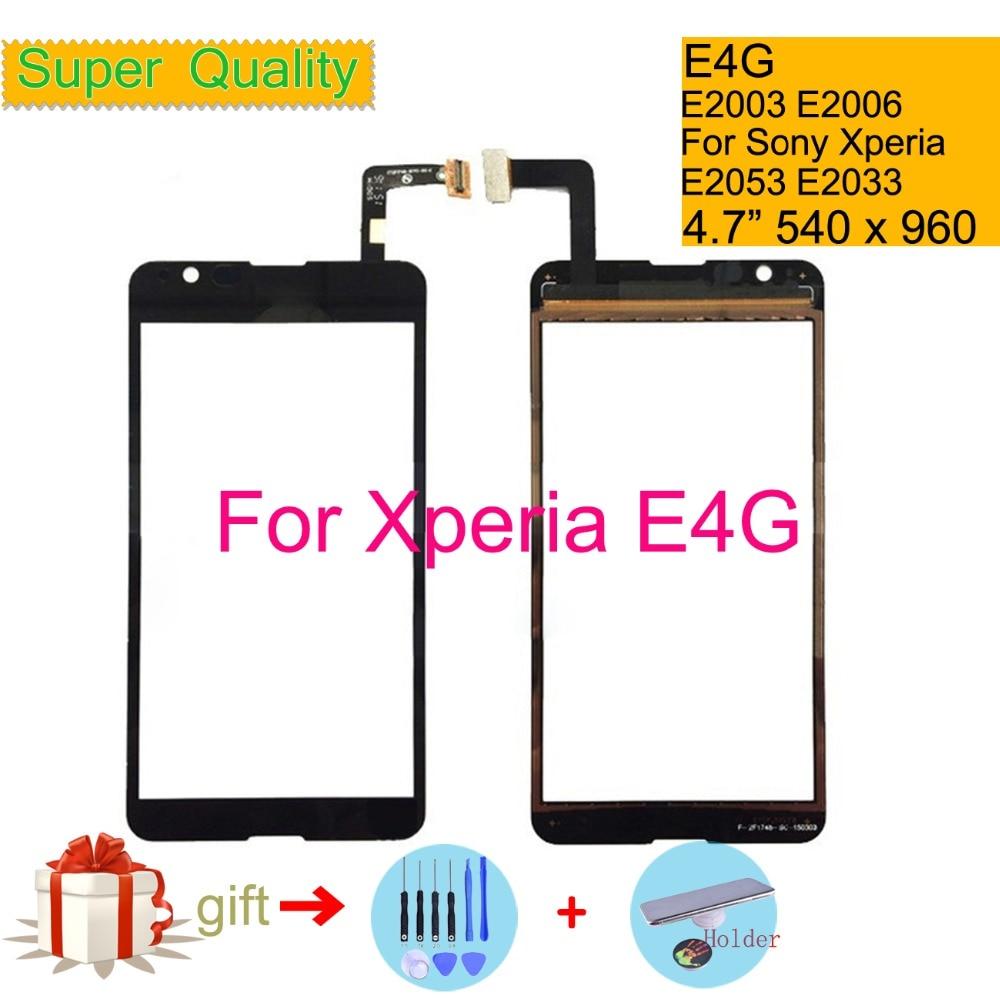 Touchscreen For Sony Xperia E4G E2003 E2006 E2053 DUAL E2033 E2043 Touch Screen Digitizer Front Outer Glass Panel Sensor NO LCD
