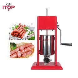 ITOP Handleiding Rode 3L Worst Stuffers Dubbele Snelheden Voedsel Vlees Worst Filler Voedsel Vulmachine Keuken Voedsel Processors