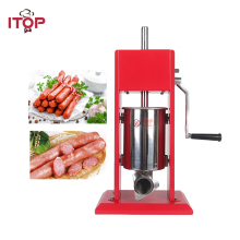 Купить с кэшбэком ITOP Manual Red 3L Sausage Stuffers Double Speeds Food Meat Sausage Filler Food Filling Machine Kitchen Food Processors