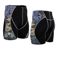 2017 mens bodybuilding calzamaglia running pantaloncini fitness sexy shorts skinny compressione l'assorbimento di tronchi di pelle palestra abbigliamento