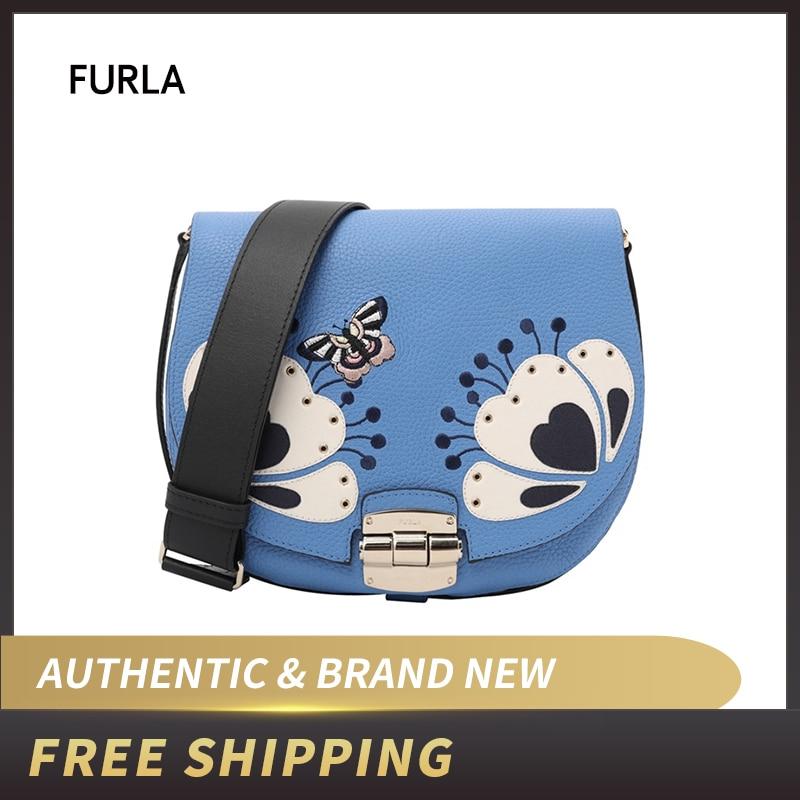 Кожаная сумка через плечо FURLA CLUB S BNI5/BNI6/BNI7