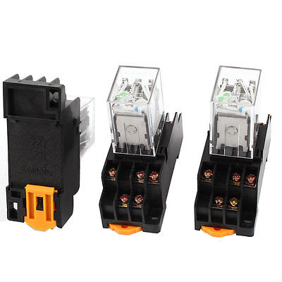 3 Pcs HH53PL DC 24V Coil 3PDT 11Pin 35mm DIN Rail Mounting Electromagnetic Relay  Free Shipping цена и фото