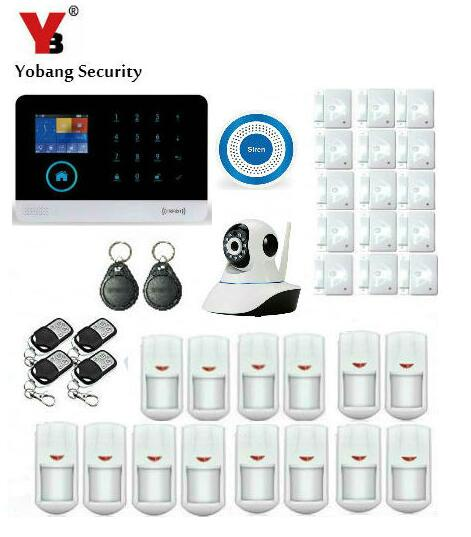 Yobang Security-House Intelligent Auto Burglar Door Security Alarm System RFID WIFI GSM SMS Alarm Kits With IP Camera Monitoring lcd display home dual wire wireless sms gsm alarm systems house intelligent auto burglar door security alarm system remote