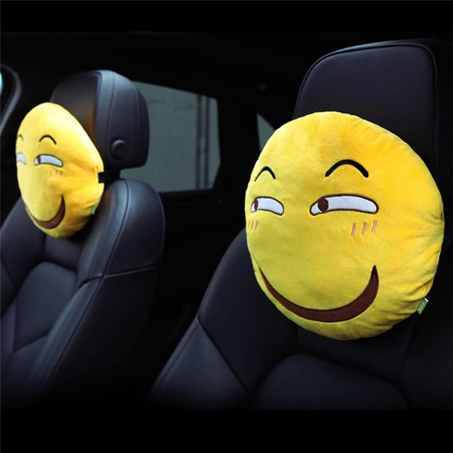 Cute Car Headrest Pillow : Seat Supports Cartoon Cute Car Funny Naughty Emoji Pillow Headrest Neck Rest Support Cushion ...