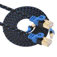 Haute qualité CAT7E Ethernet réseau Patch LAN câble plat cordon pour ordinateur portable 0.5 m/1 m/2 m/3 m/5 m/8 m/10 m/15 m/20 m