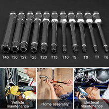 11pcs 1/4 inch Hex Security Electric Screwdriver Bit Set For Magnetic Screwdriver Bit Tool Set(China)