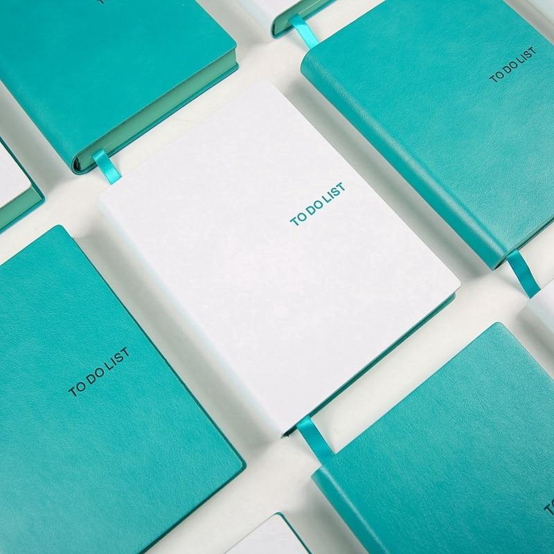 K & KBOOK a lista cuaderno de cuero A6 CUADERNO DE LA ESCUELA lácteos Kawaii cuadernos y revistas planificador organizador planificador del programa