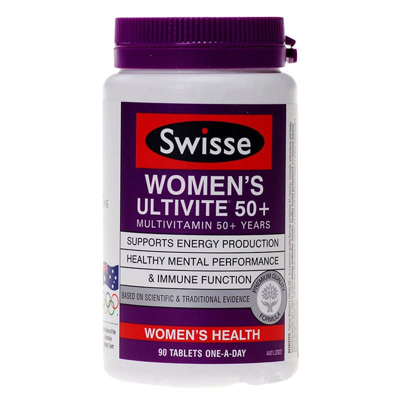 Australia Swisse Ultivite Multivitamins for 50 Women Maintain Energy Levels Mental Alertness Stamina Vitality During Stress