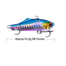 1Pcs 6.5cm 14g winter VIB fishing lure with lead inside hard bait diving swivel jig wobbler lure ice sea fishing tackle стоимость