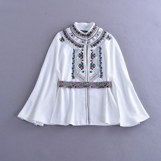 Europe 2016 New Early Autumn Foreign Trade Exquisite Embroidered Shawls Fashion Coat Cloak D496