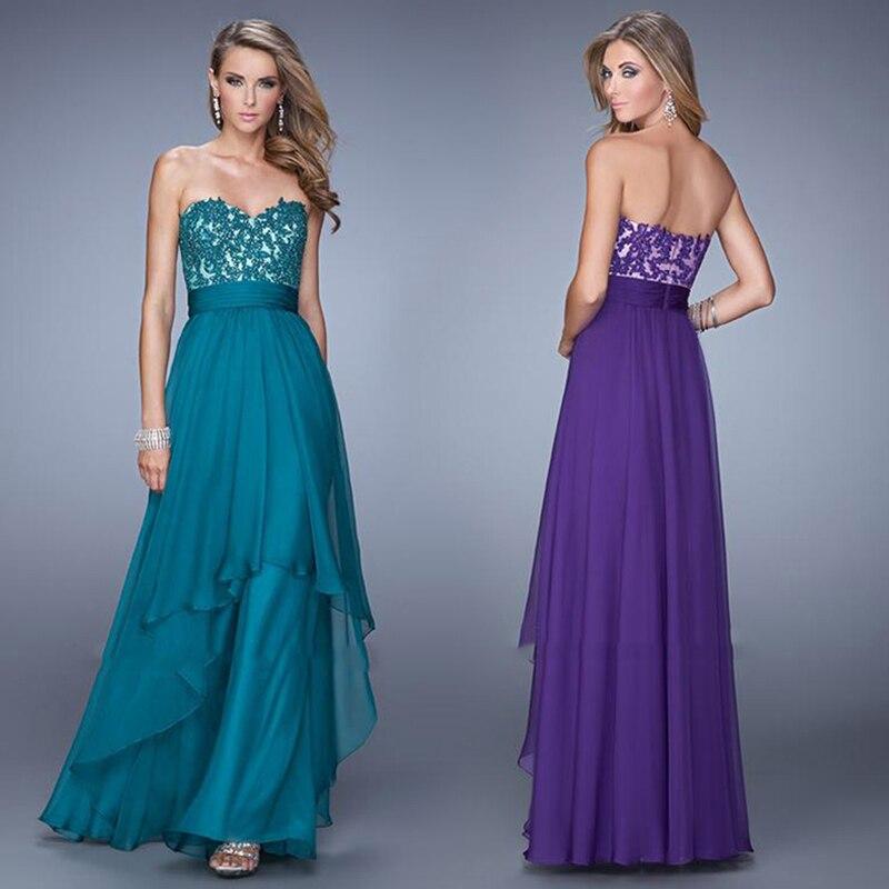 Bonito Vestidos De Dama Largo Sin Tirantes Inspiración - Vestido de ...