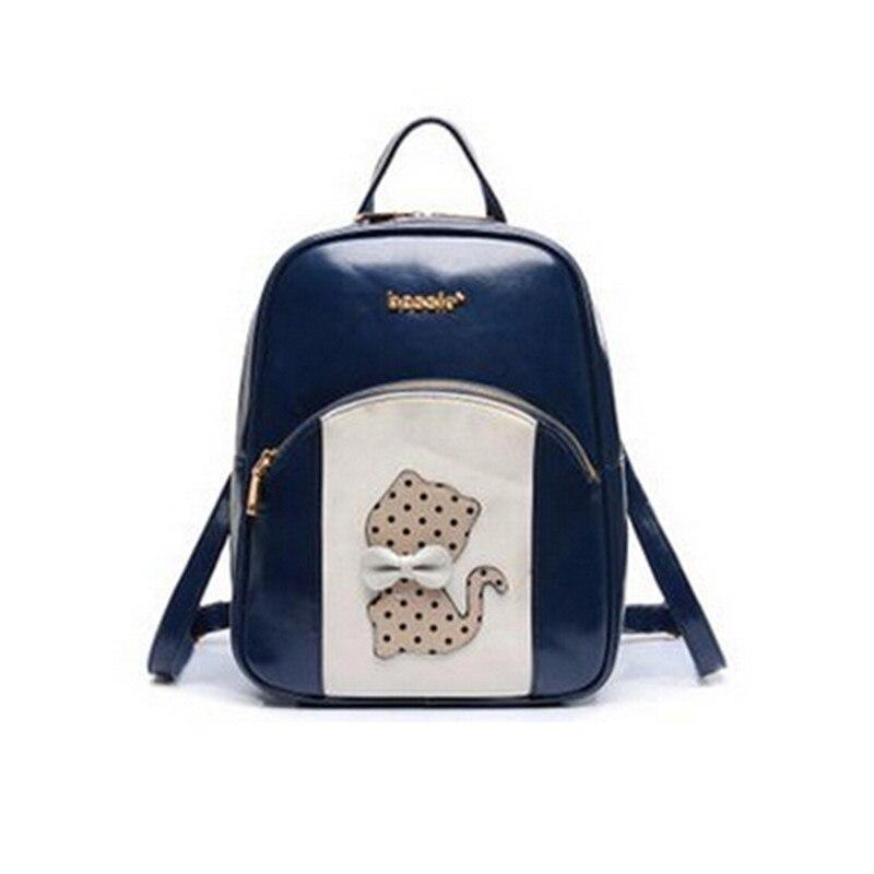 ФОТО Factory outlets 2016 new small shoulder bag doubles fresh cartoon bag fashion wild lemochic backpack mochila zaino