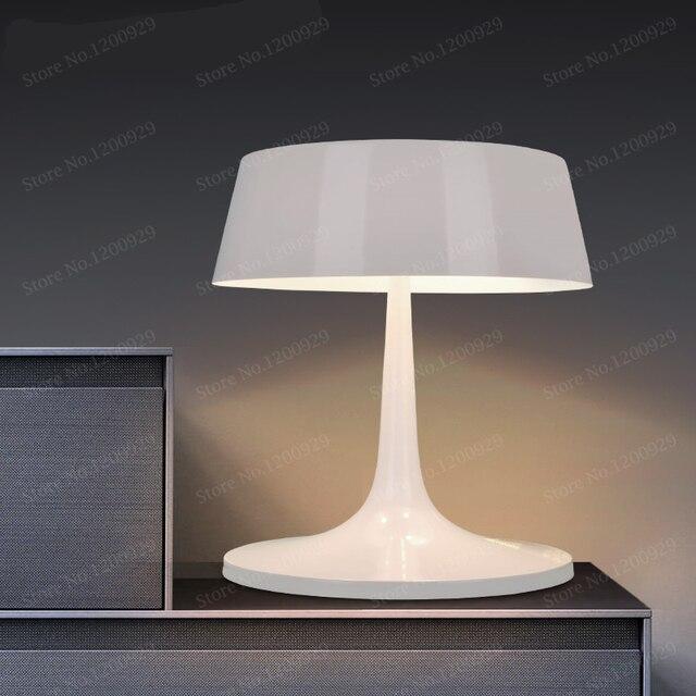 Led Desk Lamp Re Modern Table Lamps Reading Study Light Bedroom Bedside Lights Metal Lampshade Home Lighting Design