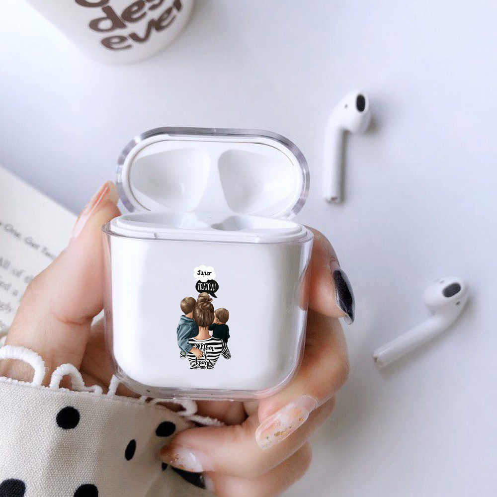 Case For Apple Airpods 1 2 Case Cute Mom Baby Girls Wireless