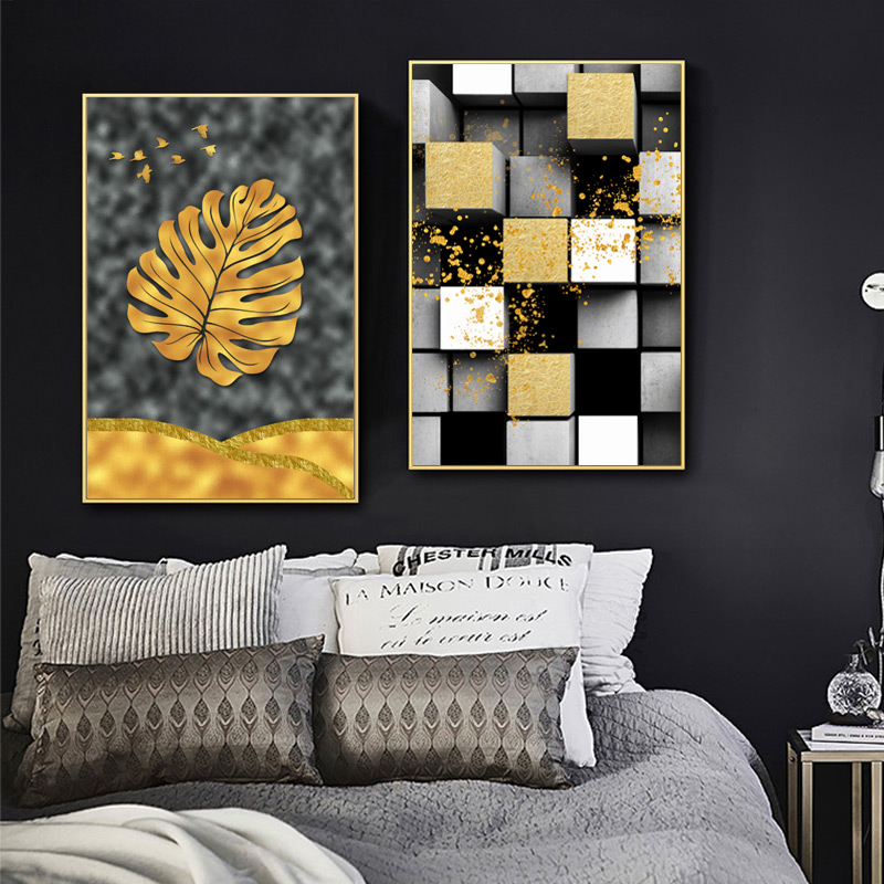 COSBILL Nordic Abstract Art Poster Prints Modern Decoration Canvas Leaf Painting Wall Picture For Living Room No Frame JY022