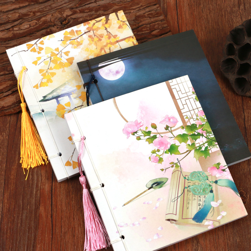 Flower Vintage Large Memo Pad Daily Planner Notepad Diary China Style Classic Binding Notebooks Students Gift Collection Books emoshire 4 set of notebooks stationery creative gift bag chinese style retro memo pad diary note book notepad n059