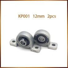 Bloc d'oreiller en alliage de Zinc, alésage de 12mm de diamètre intérieur, roulement à billes en métal, 2 pièces, KP001, livraison gratuite
