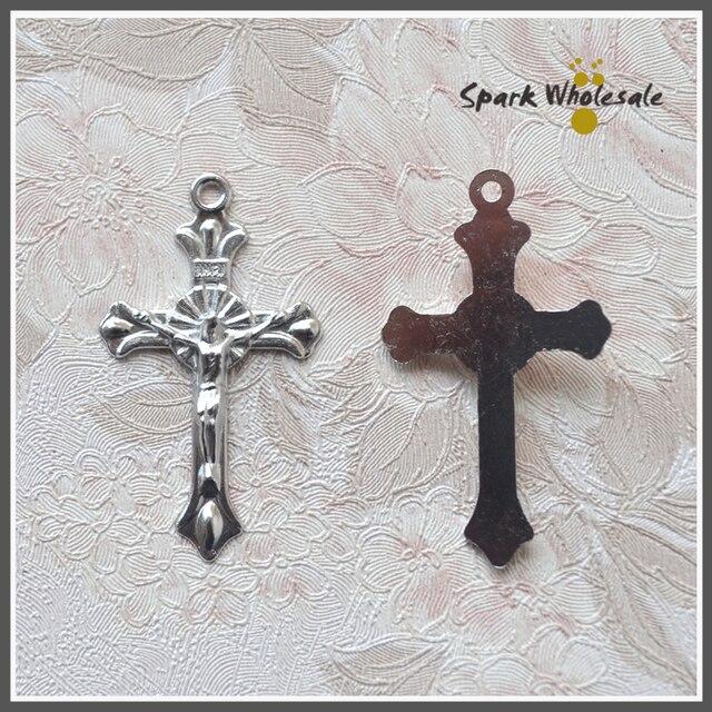 100pcslot wholesale catholic jesus crucifix pendant metal cross for 100pcslot wholesale catholic jesus crucifix pendant metal cross for rosary jewelry findings holy alloy aloadofball Image collections