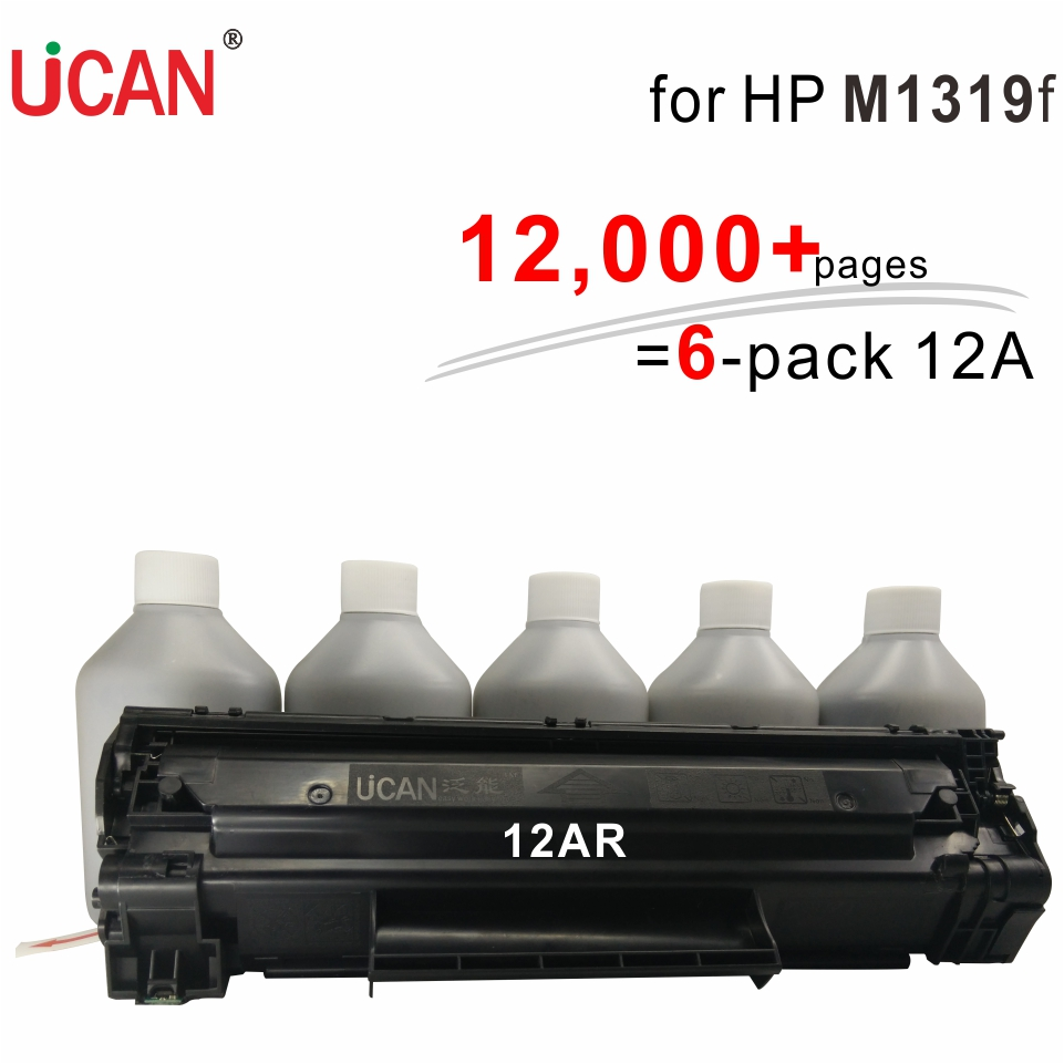 for Hp Q2612a Cartridge LaserJet M1319f MFP UCAN CTSC(kit) 12,000 pages equal to 6-Pack Q2612a toner cartridges ideal lux настольная лампа ideal lux micky tl1 giallo