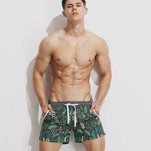 Брендовая мужская одежда, пляжная одежда, купальник maillot de bain, мужские пляжные шорты с принтом, удобные крутые свободные мужские короткие бр...